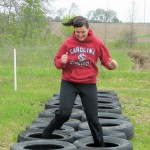Jackie O testing out the tirerun!